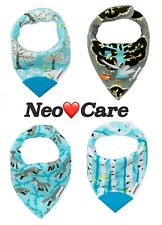 NeoCare 100% Organic Cotton Baby Bandana Bibs with Teethers - Shipped from Ca!