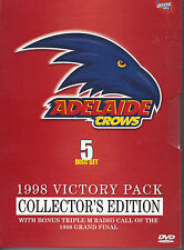 1998 ADELAIDE CROWS VICTORY PACK COLLECTORS EDITION (5 Disc Set)