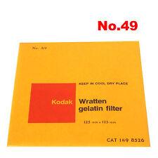 Kodak Wratten Gelatin Filter 12,5 x 12,5 cm No.49 CAT 149 8526