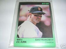 1989 Star Company WILL CLARK 11 card set  - Giants