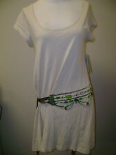 Rebecca Moses Cream Tunic w/ Jewel Embroidery M NWT $89