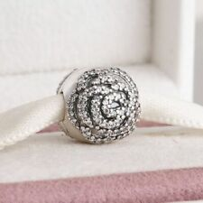 Shimmering Rose Authentic Pandora Charms bead Sterling Silver Charm 791529CZ