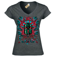Crusader T-Shirt Medieval knight Womens Ladies V-Neck