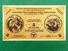 WW II Nazi Occupied Lituanie 5 Point note de LAINE BRUTE article valeur du point UNC