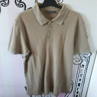 """Size L 40"""" s.Oliver Pale Brown Beige Polo Shirt Embroidered Logo Short Sleeve"""