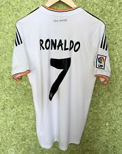 REAL MADRID 2013 2014 HOME ADIDAS FOOTBALL JERSEY SHIRT SOCCER #7 RONALDO SIZE S