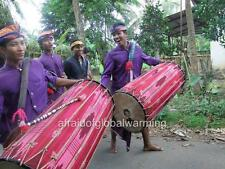 Photo. 2000s. Lombok, Indonesia. Big Drum (Gendang Beleq) Musicians