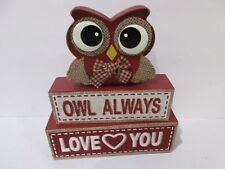 Valentines Day OWL ALWAYS LOVE YOU Wood Sign Decor Decoration