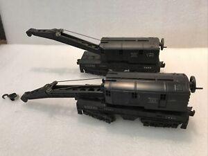 2 Lionel  6460 Bucyrus Erie Crane Cars for Parts only see Description (F26)