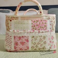 country Print Patchwork Cherry Quilted Storage/Laundry Basket/Bag B08