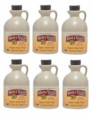 Maple Valley 32 oz Grade A Dark & Robust Organic Maple Syrup - 6 PACK