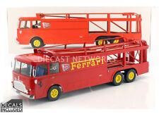 Norev FIAT BARTOLETTI 306/2 FERRARI JCB 1970 Racing Transporter 1/18 Scale New!