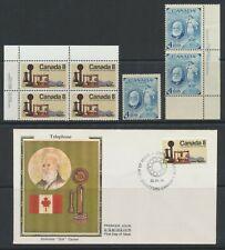 1974 Canada FDC/PB #641 The Telephone & 1947 #274 Alexander Graham Bell ~ PR/S