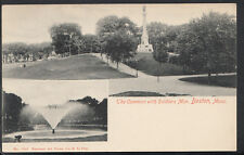 America Postcard -The Common With Soldiers Mon, Boston, Massachusetts DR730