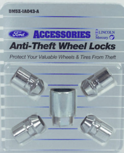 New Chrome Wheel Locks Exposed Lug 2013-20 Ford Lincoln check fitment DM5Z1A043A