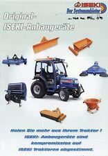 Prospekt Iseki Anbaugeräte 1 07 2007 Landmaschinen Traktoren Kehrmaschinen