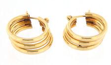 Women's Triple Hoop Earrings 14kt Yellow Gold