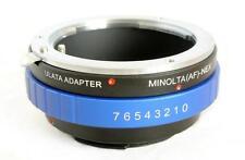 ULATA Lens Mount Adapter Sony Alpha Minolta AF to Sony E FE NEX Mount MA-NEXBL
