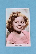 VINTAGE RPPC REAL PHOTO COLORIZED POSTCARD OF SHIRLEY TEMPLE UNUSED