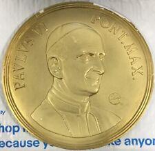 "Pope Paul The 6th Plaster Wall Sculpture 9"" Diameter Cortlandt Sales Inc A-431"