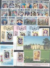 Elizabeth Queen Mother Group Of Mint Nh Stamps, S/S Fdcs &Et Cetera Ii