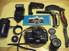 OLYMPUS OM1 BUNDLE, GROUP, KIT  LENSES AND MORE  !!