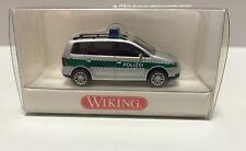 Wiking 104 28 32, Polizei VW Touran grün/silber, Maßstab 1:87, H0, NEU in OVP
