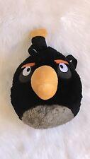 Rovio Angry BIrds Black Backpack Bag Zipper Plush Stuffed Animal