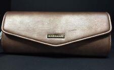 New Maria Mare Designer Handbag Purse Clutch Gold Tone Chain Strap Color Bronze