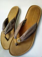 Tommy Hilfiger Women Flip Flops Sandals Leather Perfect condition Size US 7 UK 6