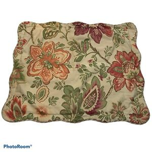 """Biltmore Festival Pillow Sham 28""""x22"""" Decorative piping Zippered Polyester/Rayon"""