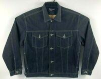Karl Kani Jeans Men's XL Denim Jean Jacket Black Urban Streetwear Hip-Hop 90's