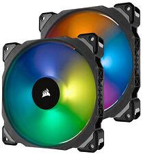 Corsair ML140 Pro PWM RGB 140mm Computer Case Fans - Dual Pack