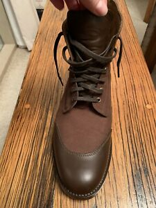 Grenson England Brown Boot - Leather/Canvas