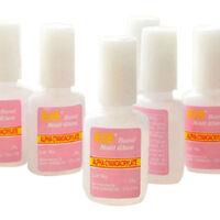 5 PCS With Brush On Strong Adhesive Fake Acrylic False Tips 10g Nail Art Glue