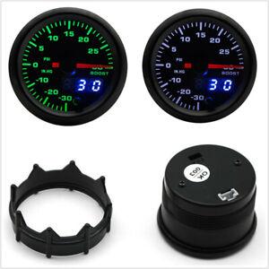 """12V Universal 2"""" 52mm Car SUV 7 Color LED Turbo Boost Digital Gauge With Sensor"""