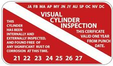 Scuba VISUAL CYLINDER INSPECTION tag sticker tank certificate (20 pack) p124