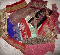 ZARDOSI WORK RARE LOT Antique Vintage Sari TRIM LACE EDGING RIBBON 100 GRAMS