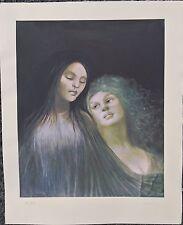 Original Rare Leonor Fini Vampire Silkscreen Print From Carmilla. Signed 56/297