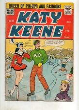 Katy Keene #33 Looks Fn 6.0 is G/VG 3.0 Complete; Archie Series 1957 No Cut-Outs