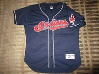 Cleveland Indians 1995 MLB world series Russell Athletic Game Jersey 52