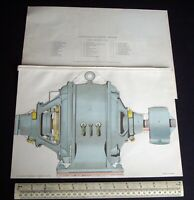 Continuous-Current Motor Lift-Up Paper Model. Early 1900s Vintage.