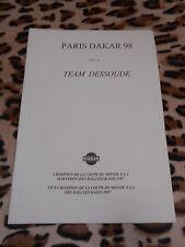 Brochure - PARIS DAKAR 98 avec le TEAM DESSOUDE - Nissan