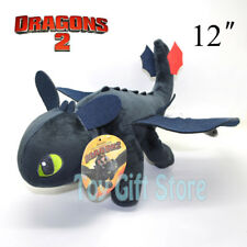 "TOOTHLESS Night Fury 12"" How To Train Your Dragon Plush Doll Stuffed Toy"