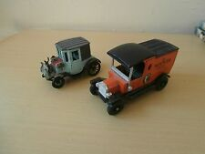 MATCHBOX MODEL OF YESTERYEAR FORD MODEL T+RAMI COUPE PEUGEOT 1898