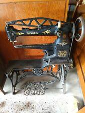 ANTIQUE SINGER 29K55 CAST IRON 29-4 COBBLER LEATHER TREADLE SEWING MACHINE