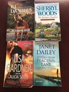 Lot of 4 PB Books: Contemporary Romance Novels by Various Authors