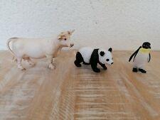 Schleich Tiere, Schleich, große Kuh, Pandabär, Pinguin, Spielzeug, gebraucht