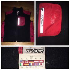 Spyder Black Kids Ski Snowboarding Outdoor Fleece Full Zip Vest Size XL