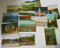 LOT OF 14  NY NEW YORK  VINTAGE POSTCARDS WORLD'S FAIR COOPERSTOWN ETC